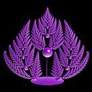 Fern in Purple by Sandy Keeton