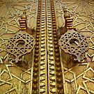 Palatial welcome (Palace doors, Fez, Morocco) by Christine Oakley