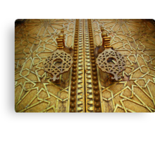 Palatial welcome (Palace doors, Fez, Morocco) Canvas Print