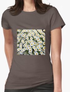 Daisy Flower Womens Fitted T-Shirt