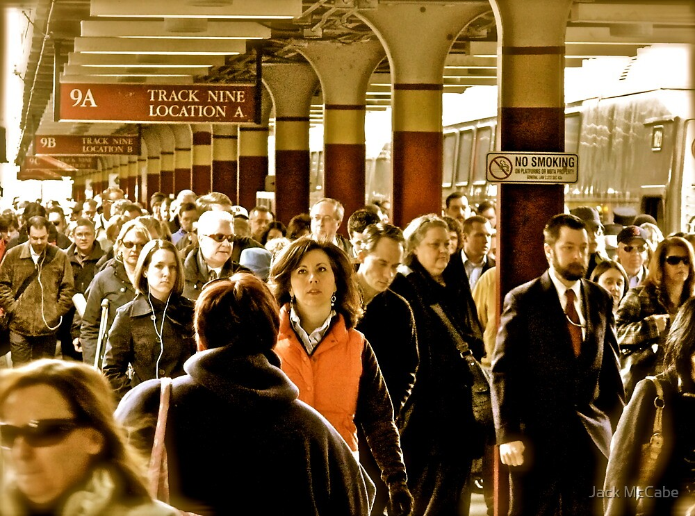 """Boston Commuters"" - Coming Off the ""T"" - *Featured by Jack McCabe"