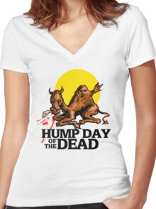 Hump Day of the Dead Women's Fitted V-Neck T-Shirt