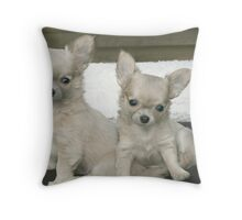 Cute brother and sister puppies. Throw Pillow