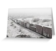 Train in the Mist Greeting Card