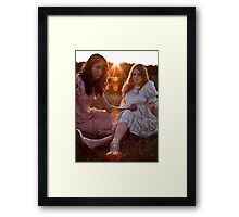 Satin and Lace Framed Print