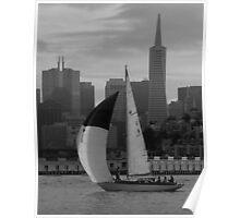 SF Folk Boat / portrait Poster