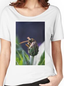 wasp on flower Women's Relaxed Fit T-Shirt