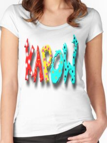 KAPOW 2 Women's Fitted Scoop T-Shirt