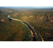 Arnhem Land and Alligator River from air Photographic Print