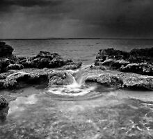 stormy weather - jervis bay australia by doug riley