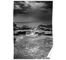 stormy weather - jervis bay australia Poster