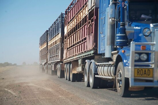 ruralscapes #90, road train by stickelsimages