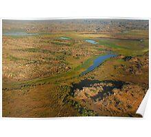 Arnhem Land cliffs and Alligator River from air, NT Poster
