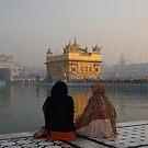 Dusk At The Gurdwara, Amritsar, Punjab, India by RIYAZ POCKETWALA