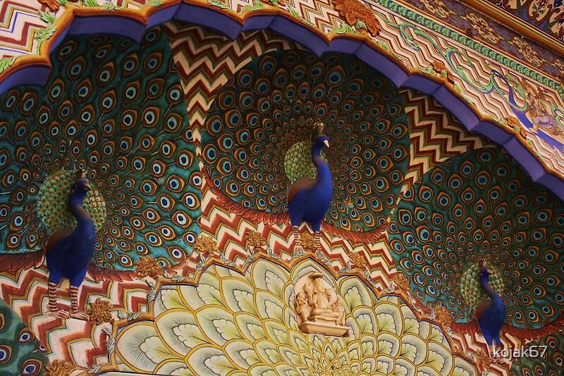 Peacock arch jaipur palace jaipur rajasthan india by for Decor india jaipur
