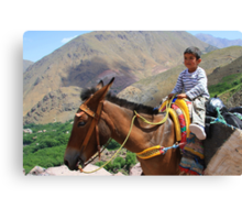 Pint sized adventures (Atlas Mountains, Morocco) Canvas Print