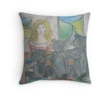 Goldilocks and The Three Bears Throw Pillow