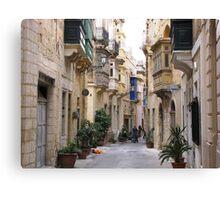 Streets of Birgu Canvas Print