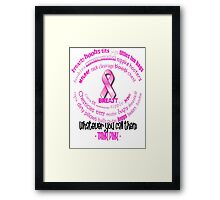 Breasts, Whatever You Call Them Think Pink Framed Print
