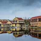 Proudfoots boathouse and cafe by Roger Neal