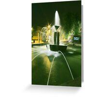 Plac AK Fountain Greeting Card