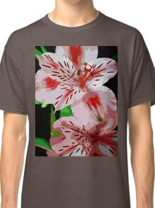Red and white flowers. Classic T-Shirt