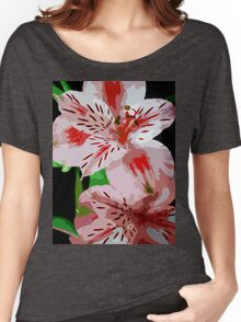 Red and white flowers. Women's Relaxed Fit T-Shirt