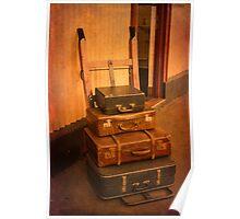 Vintage Luggage at Northiam Station Poster