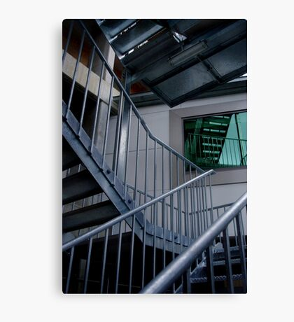 Blue Steel, Green Window Canvas Print