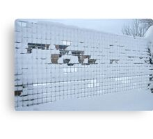 Taking a fence Canvas Print