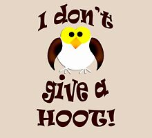 I don't give a hoot! Womens Fitted T-Shirt
