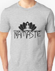 Namaste Yoga Lotus Flower Unisex T-Shirt