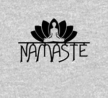 Namaste Yoga Lotus Flower Womens Fitted T-Shirt