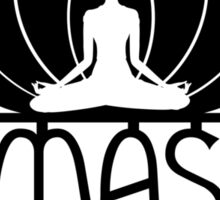 Namaste Yoga Lotus Flower Sticker