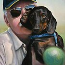 "Self Portrait - ""Dad"" with Dexter by Tom Godfrey"
