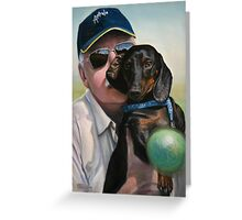"Self Portrait - ""Dad"" with Dexter Greeting Card"