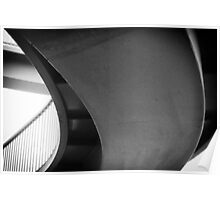 Monochrome abstract curves Poster