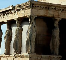 Caryatids - Acropolis of Athens by elenmirie