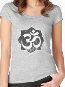 Vintage Om Symbol T-Shirt Women's Fitted Scoop T-Shirt