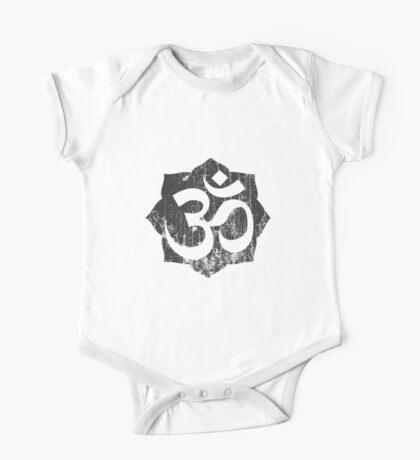 Vintage Om Symbol T-Shirt One Piece - Short Sleeve