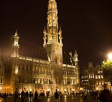 Brussels at night (Belgium) by Antanas