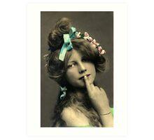 *Sssshhhhh* Vintage Beauty Art Print