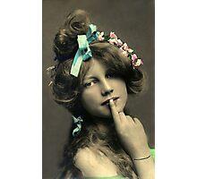 *Sssshhhhh* Vintage Beauty Photographic Print