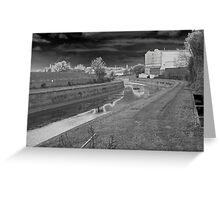 Photographic Art. Urban Landscape. The Canal Waterway's.  Greeting Card