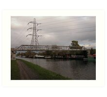 Photographic Art. Urban Landscape. The Canal.  Art Print