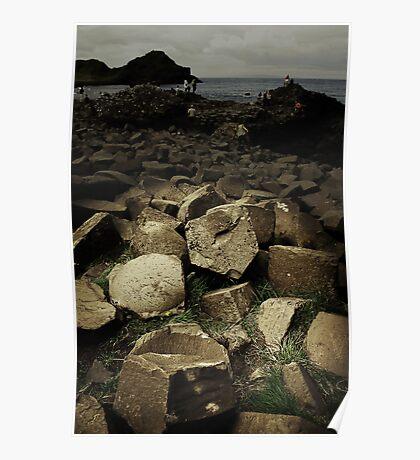 Giant Causeway, Ireland, Eire, North Poster