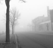 Fog On Cuyahoga Falls Ave. by coffeenoir
