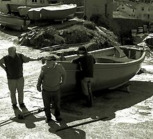 Coverack Boatmen  by Mike Honour