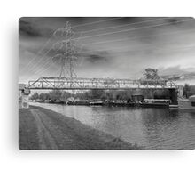 Photographic Art. Urban Landscape. The Canal Waterway's. Canvas Print