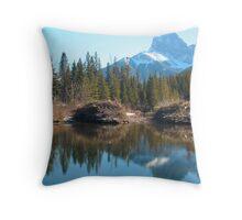 Beaver dam II Throw Pillow